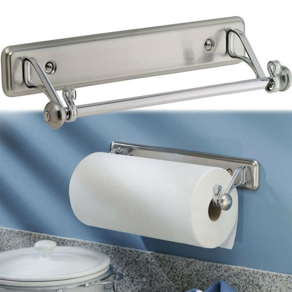 York Kitchen Wall-mount Paper Towel Holder Stainless Steel Finish