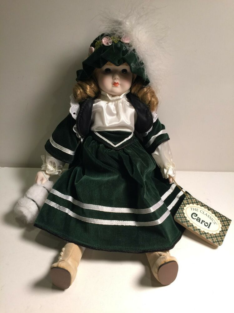Classic Russ Berrie Co Collectible Porcelain Doll Figurines 14 Carol Dressed Lg  eBay