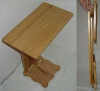 New Solid Oak Wood FOLDING TV Tray Laptop Table RV Tray ...