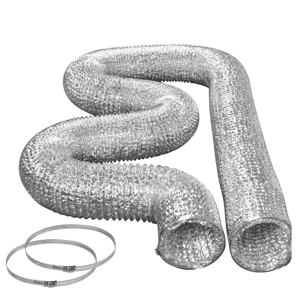 Dryer Vent Hose Kit with Clamps Foil Metal