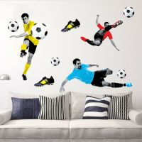 Playing Football Wall Sticker Boys Room Decal Home Art ...