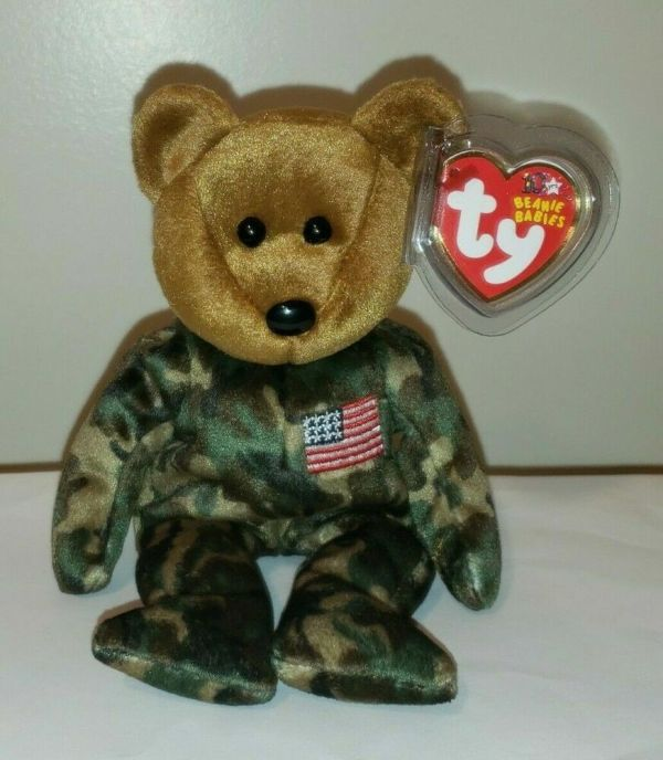 American Flag Beanie Baby Ty - Year of Clean Water
