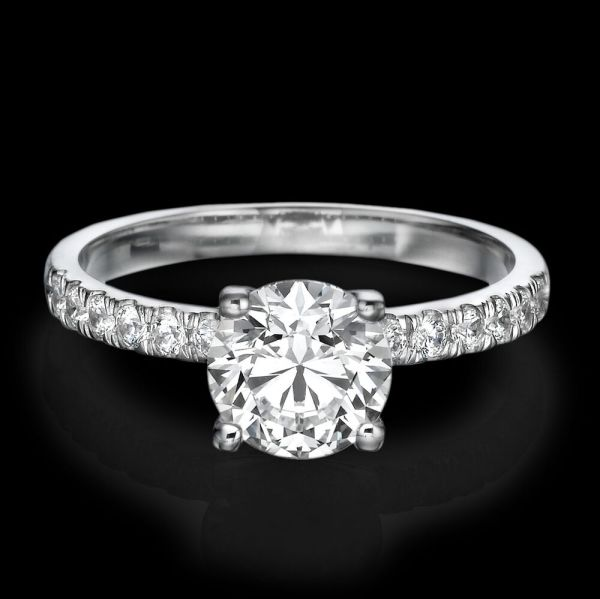 1 CARAT D SI1 ENHANCED DIAMOND ENGAGEMENT RING ROUND CUT