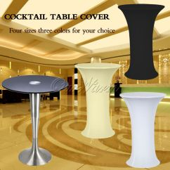 Diy Organza Chair Covers Cover Rentals Tallahassee Fl Lycra Stretch Cocktail Poseur Table Spandex Tablecloth Bar Bistro Wedding | Ebay