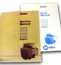 lot miller bobcat 225 225g welder generator onan engine service parts manual ebay [ 1000 x 920 Pixel ]