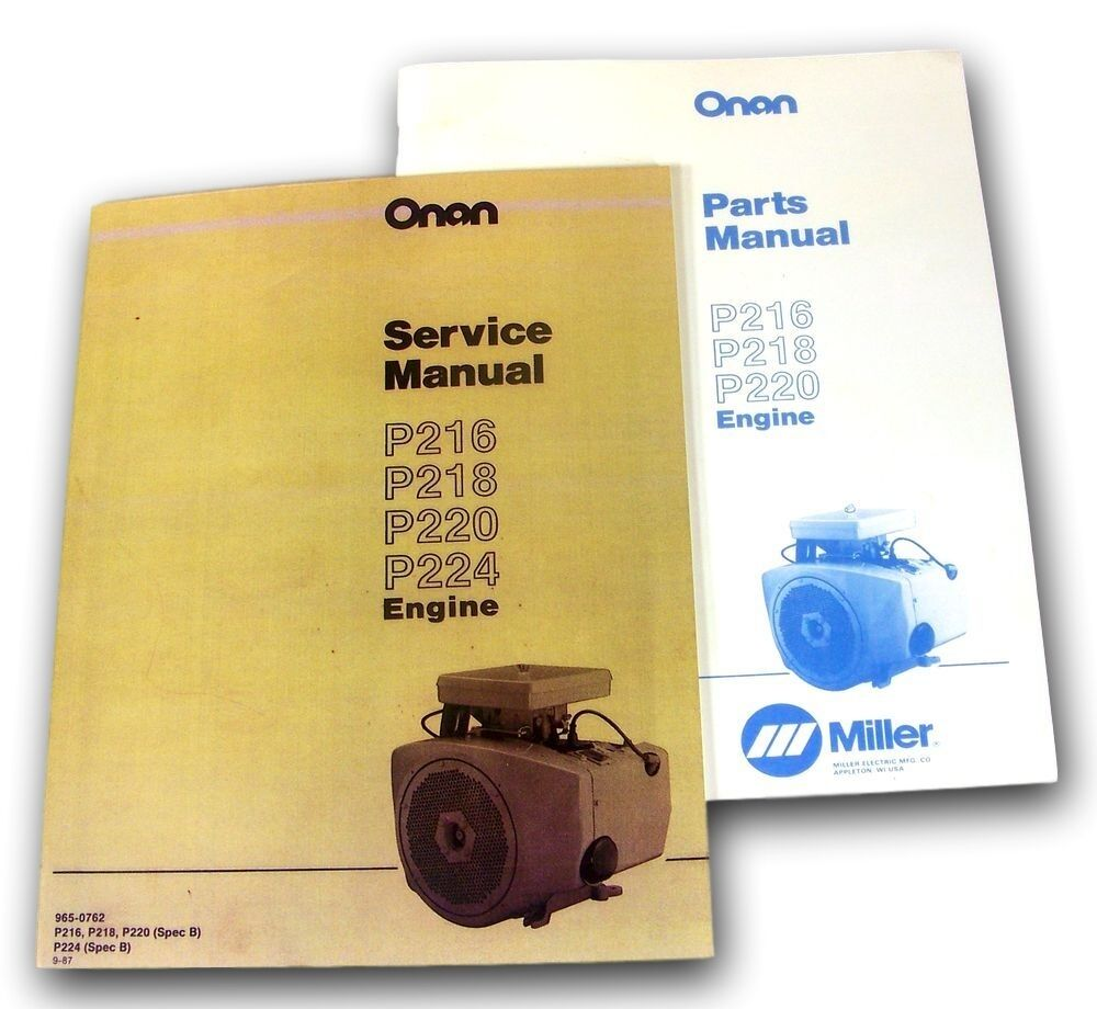 hight resolution of lot miller bobcat 225 225g welder generator onan engine service parts manual ebay