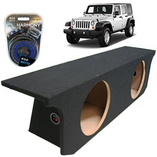 small resolution of details about 07 13 jeep wrangler 4 door unlimited dual 12 custom subwoofer sub box amp kit
