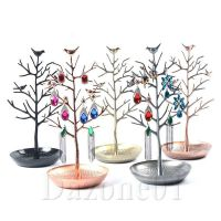 4 Color Birds Tree Jewelry Stand Display Earring Necklace ...