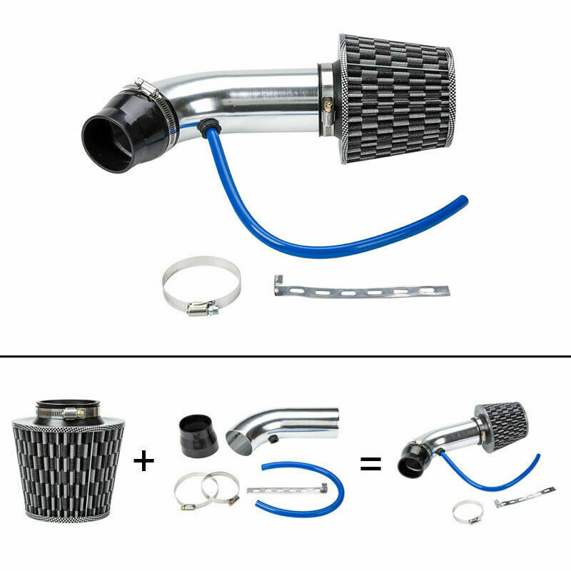 UNIVERSAL 3'' 75MM DRY RAM/TURBO/COLD CONE AIR FLOW INTAKE