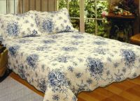 FRENCH COUNTRY BLUE ROSE * King * QUILT SET : COTTAGE ...
