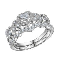 0.5ct Heart White Cz 925 Sterling Silver Wedding ...