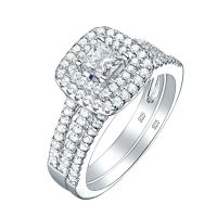 Bridal Round White CZ 925 Sterling Silver Wedding