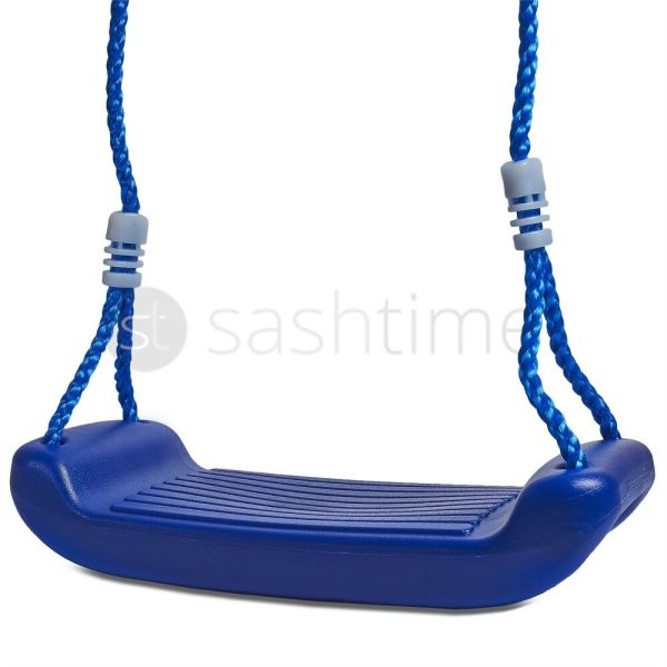 Kids Childrens Blue Plastic Swing Seat Rope Garden Outdoor
