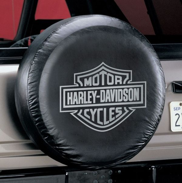 Universal Gray Harley Davidson Spare Tire Cover Wheel 27