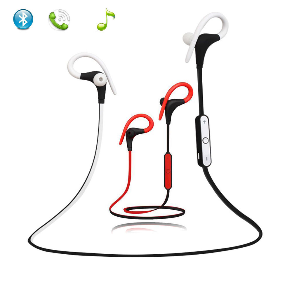 A2DP Sports Earbuds Bluetooth Headset Stereo Headphone for