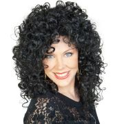 cher wig 80s music star black curly