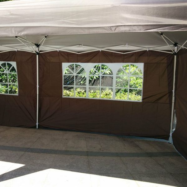 10'x 20' Outdoor Patio Gazebo Ez Pop Party Tent Wedding Canopy With4 Side Walls