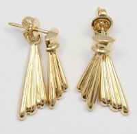 14k Yellow Gold Hanging Ladies Earrings | eBay