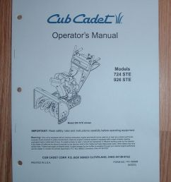 details about cub cadet 724 ste snow thrower operator s manual with illustrated parts list [ 799 x 1000 Pixel ]