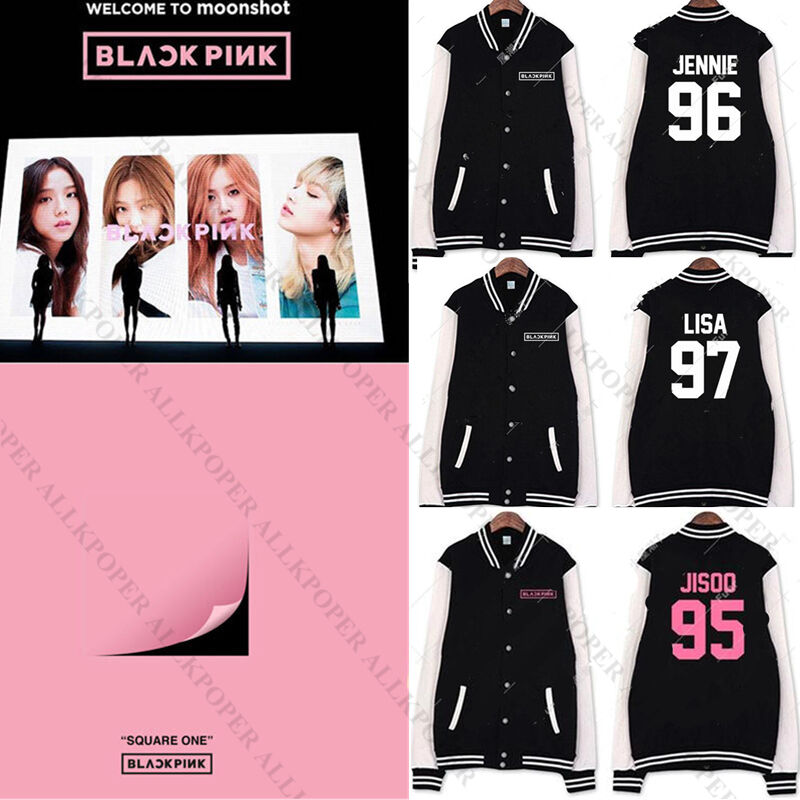 Kpop Blackpink Baseball Uniform Coat SQUARE ONE Varsity