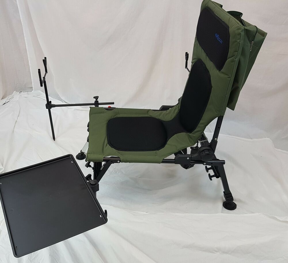 chair bed with arms uk massage accessories bison delux carp fishing station, rod pod, bivvy table, bank sticks, etc | ebay