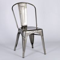 TOLIX METAL DINING CHAIR STEEL INDUSTRIAL GARDEN CAFE ...