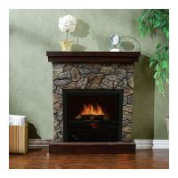 Stonegate Polystone Electric Fireplace with Mantel - 5115 ...