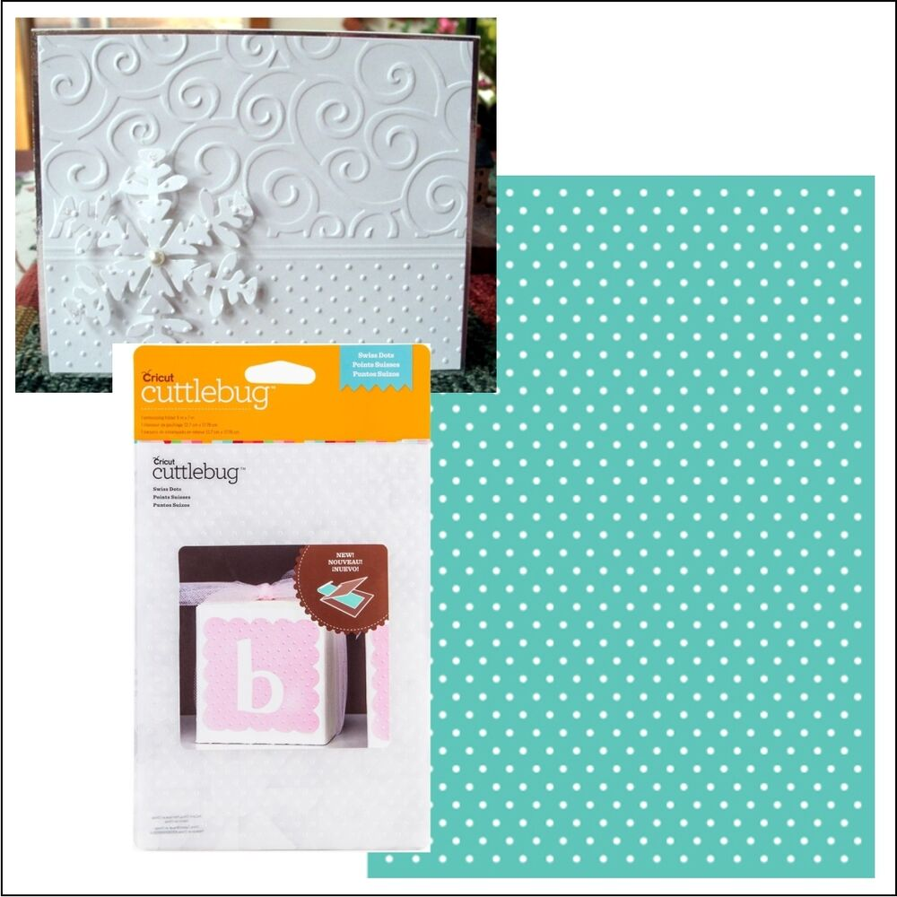 Cuttlebug Embossing Folders SWISS DOTS Embossing Folder