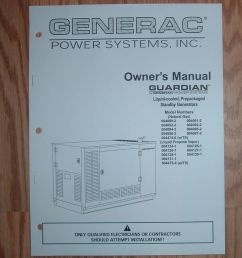 generac guardian model 004124 1 standby generator owners parts list manual ebay [ 845 x 1000 Pixel ]