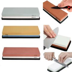 Kitchen Knife Sharpening Stone Small Pictures Japanese Whetstone Grit 1000#8000 Sharpener ...