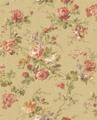 Wallpaper Designer French Country Cottage Floral Roses and ...