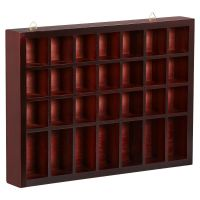 Storage Wooden Display Cabinet Modern Shelves Wall Glass
