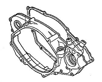 HONDA RIGHT CRANKCASE COVER WITH GASKET 94-01 CR500R 11340