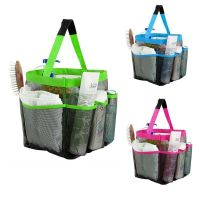 8 Pockets Mesh Bathroom Organizer Shower Caddy Travel Tote ...
