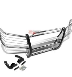 details about for 02 09 chevy trailblazer ext stainless steel front bumper brush grille guard [ 1000 x 1000 Pixel ]