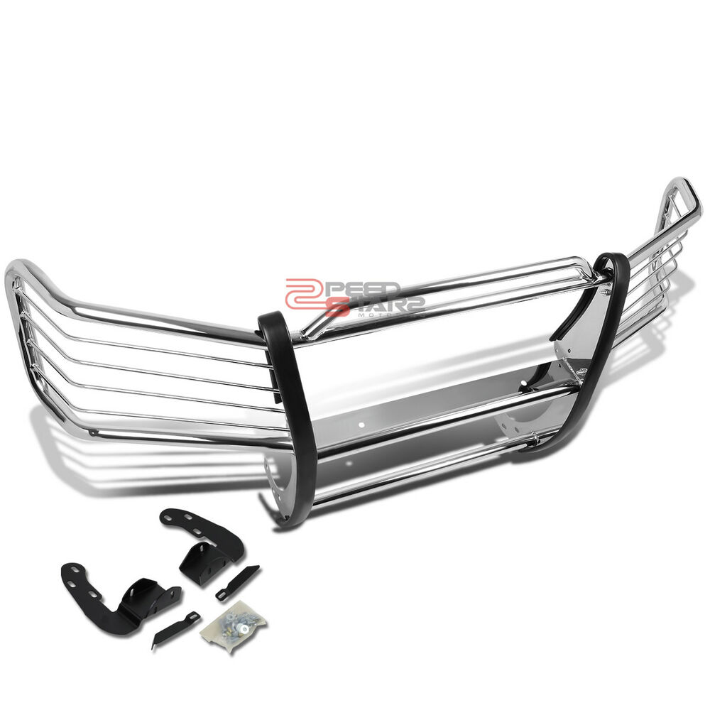 hight resolution of details about for 02 09 chevy trailblazer ext stainless steel front bumper brush grille guard