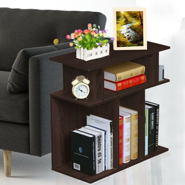 Small Accent Tables End Table With Storage Brown Side