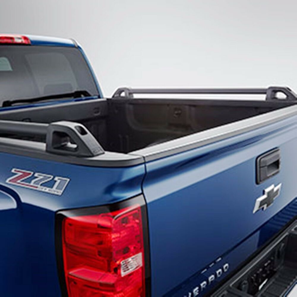 hight resolution of details about 84134647 chevrolet silverado bed black side rails 2014 2017 silverado crew cab