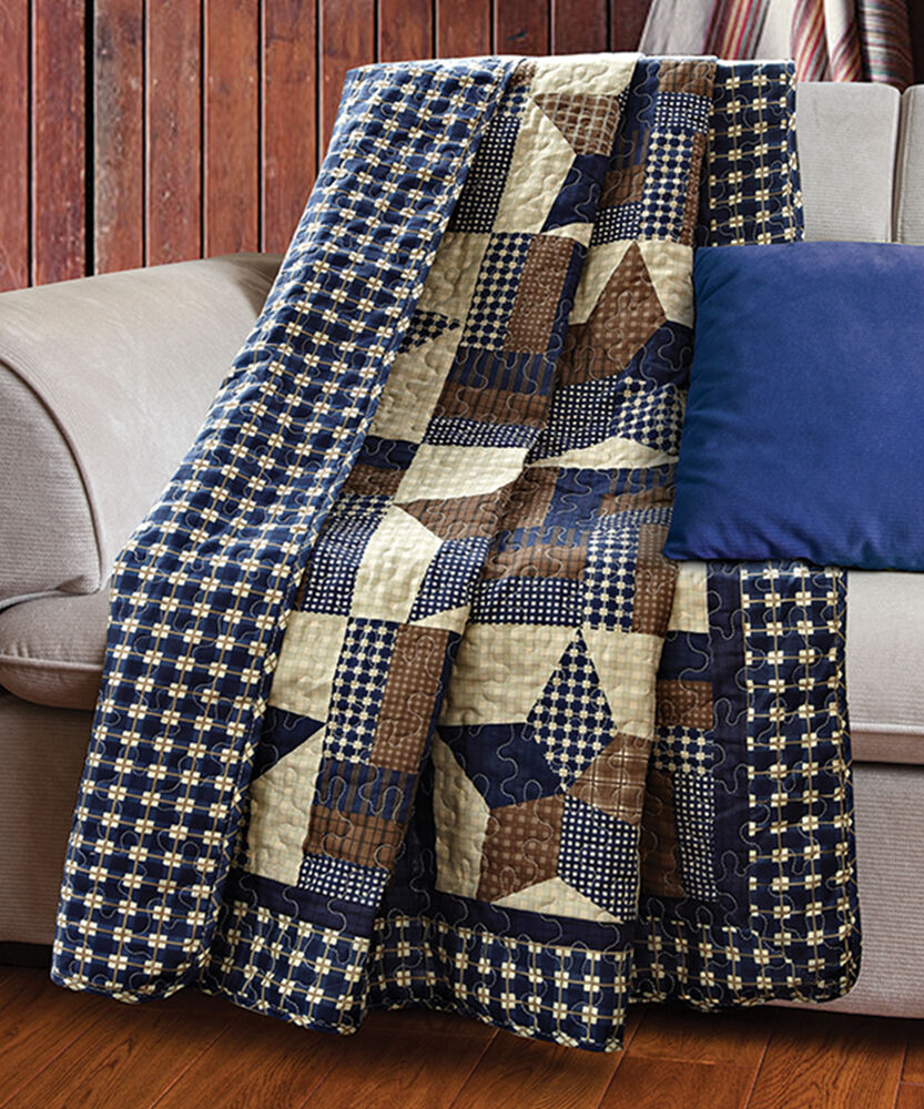 WOODLAND STAR 50x60 QUILT THROW COUNTRY CABIN LODGE 5