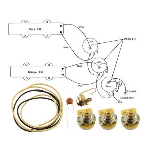 WIRING KITFENDER® JAZZ BASS Complete with Schematic