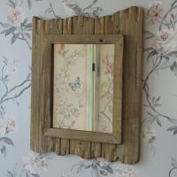 Wood Driftwood Style Wall Mirror Shabby Rustic Chic ...