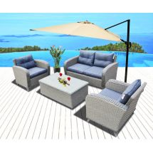 Wicker Patio Furniture Bar with Attached Seating