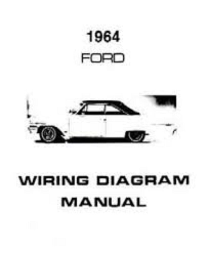 hight resolution of 1964 ford galaxie custom 300 500 country squire wiring diagrams manual nice new ebay