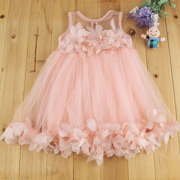 Toddler Baby Girl Lace Flower Princess Wedding Party Tulle Tutu Dresses Clothes