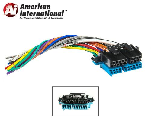 small resolution of plugs into factory radio car stereo wiring harness wire reverse fits gm 12339803436 ebay