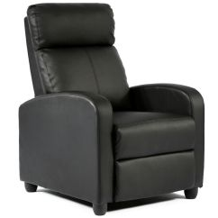 Modern Black Leather Recliner Chair Beach Chairs On The Pictures Chaise Couch Single Accent Sofa 87 | Ebay