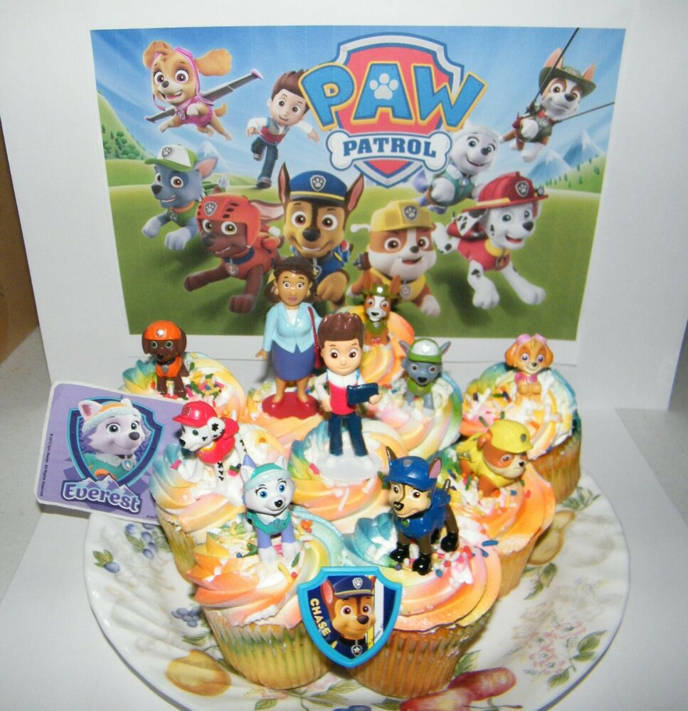 Paw Patrol Cake Toppers Set Of 14 New Characters
