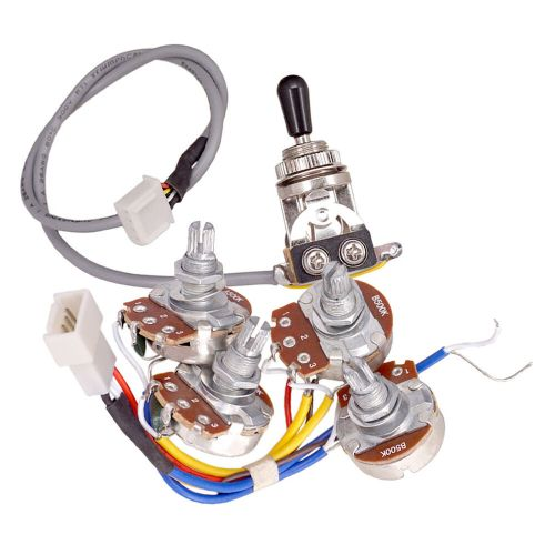 small resolution of details about electric guitar accs circuit wiring kit a500k b500k pots 3 way toggle switch