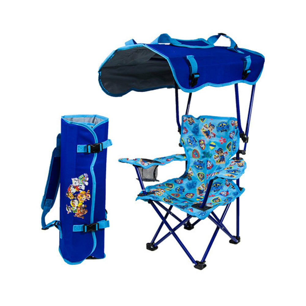 kids chair with canopy step 2 kelsyus paw patrol portable folding backpack kid s details about lounge