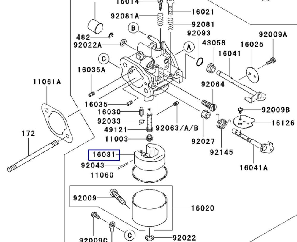 John Deere F525 Wiring Diagram John Deere Kawasaki Carburetor Float M76505 16031 2066 New